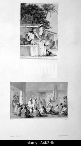 So dass Makkaroni und militärischen treffen, 1802. Künstler: Vivant Denon - Stockfoto