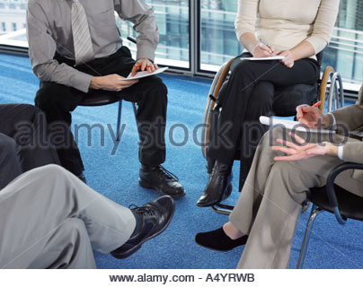 Büroangestellte in treffen - Stockfoto