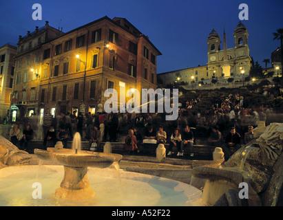 Spanische Treppe, Rom, Italien - Stockfoto