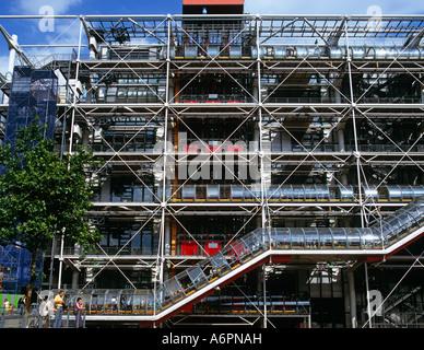 Das Pompidou Centre Paris Frankreich Europa - Stockfoto