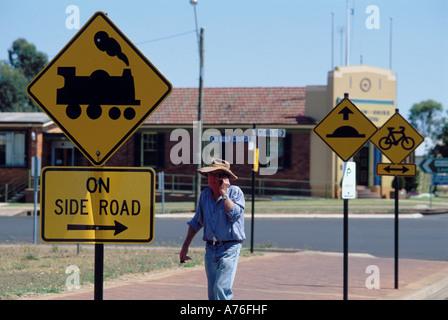 Mobile - australische Road Signs - Stockfoto