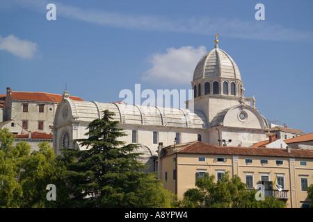 Kathedrale von Sibenik Fluss Krka Dalmatien Kroatien - Stockfoto