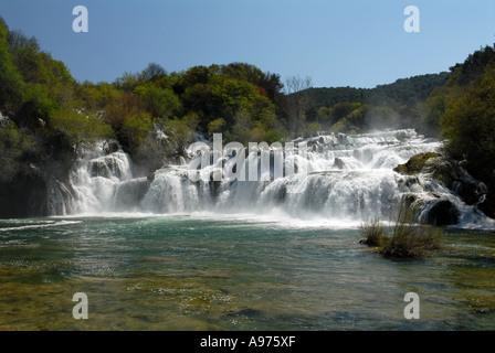 Skradinski Buk Wasserfälle Krka Nationalpark Kroatien - Stockfoto