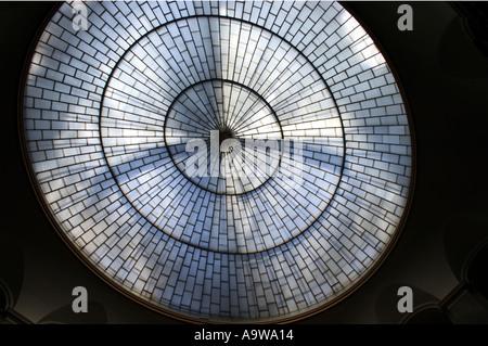 Das Glas-Eisen dome Justizpalast Blick von innen Bayern München - Stockfoto