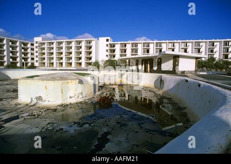 Verfallene Playa Grande Hotel Lanzarote Kanarische Inseln JMH0597 - Stockfoto