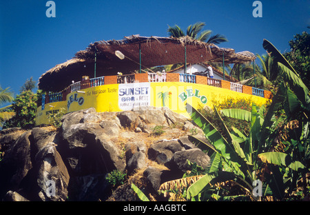 Agonda Beach Sunset Bar Canacona Goa Indien - Stockfoto
