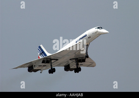 Concorde der Air France macht letzten Flug in Le Bourget Flughafen Paris Frankreich - Stockfoto