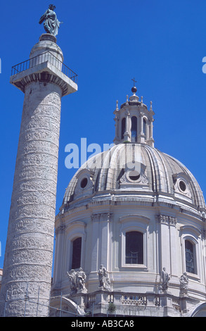 Trajans Spalte Rom Italien - Stockfoto