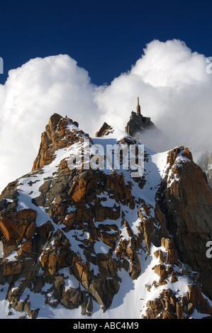 Aiguille du Midi 3842 m Chamonix Haute-Savoie-Frankreich - Stockfoto