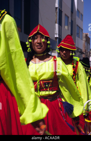 Folkloristische Tänzer - Puno Week-Festival, Puno, PERU - Stockfoto