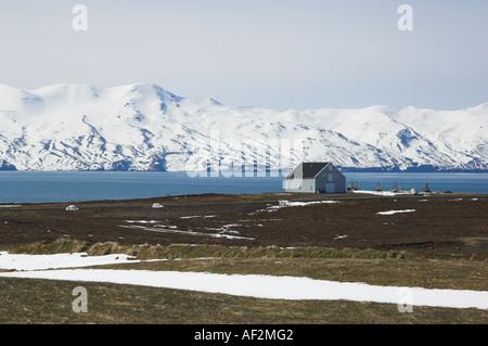 Skjalfandi Fjord Küste in der Nähe von Húsavík Island EU Nordosteuropa - Stockfoto