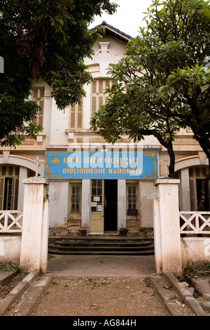 Bibliotheque Nationale Nationalbibliothek Vientiane Laos - Stockfoto