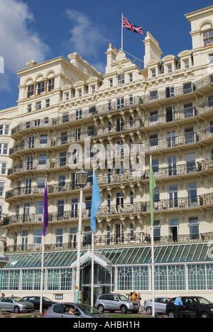Das Grand Hotel, Kings Road, Promenade, Brighton, East Sussex, England, Vereinigtes Königreich - Stockfoto