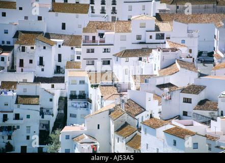 Weiße Dorf Casares Provinz Malaga Costa del Sol Spain - Stockfoto
