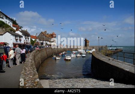 Lynmouth Harbour, North Devon. - Stockfoto