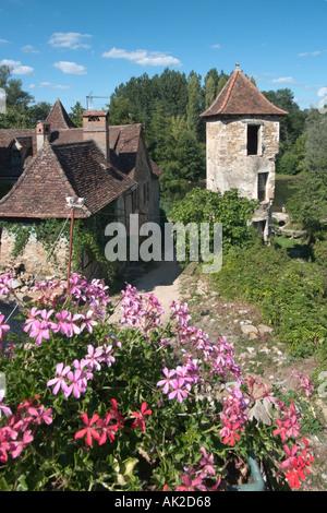 Haus in Carennac, Dordogne, Frankreich - Stockfoto