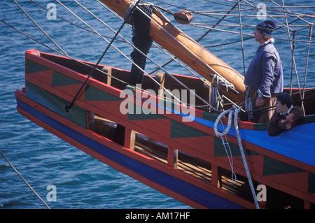 Nachbildung der Mayflower II Schiffsmodell - Stockfoto