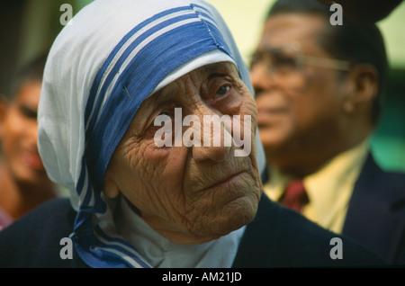 Indien in Südasien Westbengalen Calcutta Profil von Mutter Teresa - Stockfoto