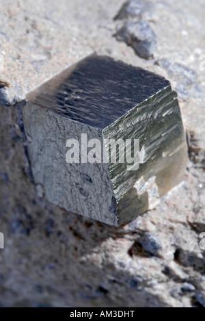 Mineral, Pyrit, Würfel - Stockfoto