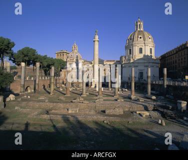 Foro di Traiano (Trajan Forum), Rom, Latium, Italien, Europa - Stockfoto