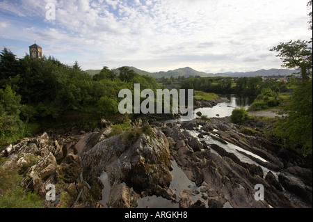 Sneem River auf der Iveragh Halbinsel Ring of Kerry County Kerry Irland - Stockfoto