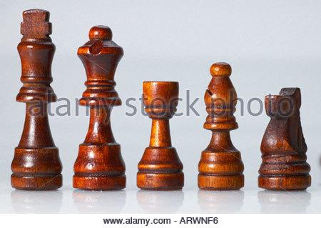 Eine Nahaufnahme von Schachfiguren - Stockfoto