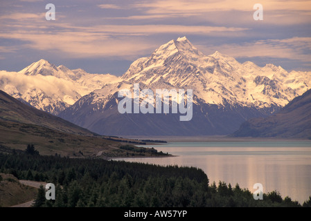 Neuseeland Südinsel Mount Cook Lake Pukaki - Stockfoto