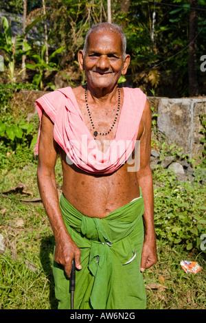 Greis, Perumbavoor, Ernakulam Bezirk, Kerala, Indien - Stockfoto