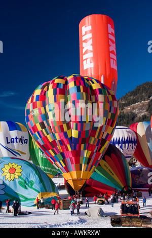 Chateau d ' Oex International Ballons Festival der Schweiz - Stockfoto