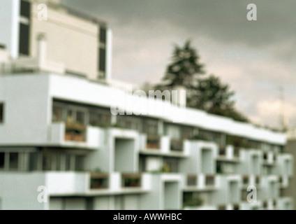 Mehrfamilienhaus, unscharf - Stockfoto