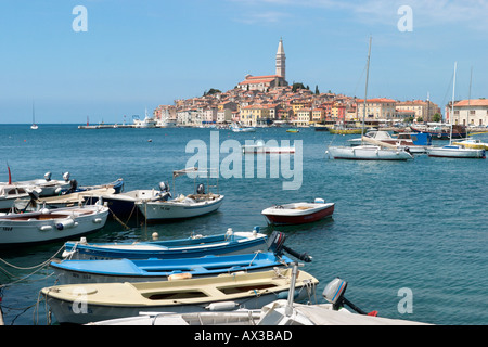 Altstadt von der Harbour, Rovinj, Istrien, Kroatien - Stockfoto
