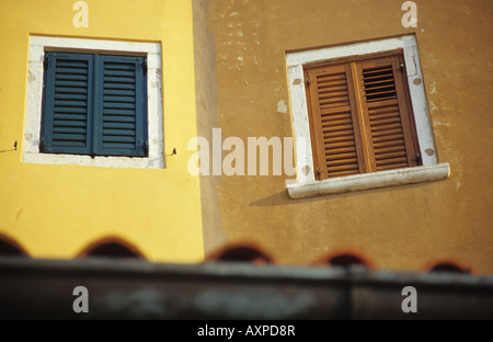 Gebäude der Altstadt Rovinj, Istrien, Kroatien - Stockfoto