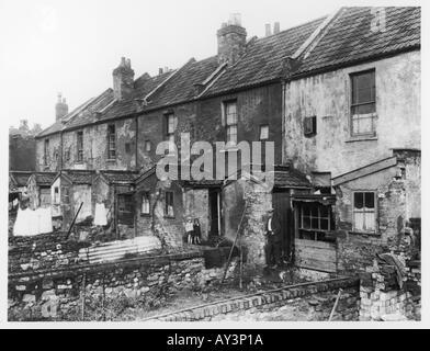 Slum Gehäuse Byron St - Stockfoto