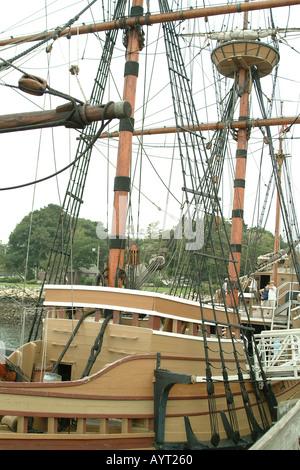 Mayflower zwei Nachbau des Schiffes Pilgerväter Plymouth Massachusetts, USA - Stockfoto