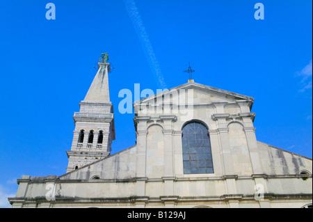 Euphemia-Kathedrale Rovinj Istrien Kroatien - Stockfoto