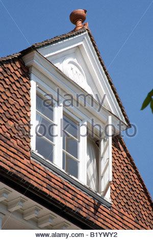 Pantiles Dach Detail, Tunbridge Wells, Kent. - Stockfoto