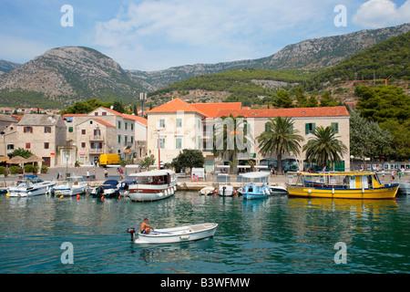 Hafen von Bol auf der Insel Brac, Kroatien, Osteuropa - Stockfoto