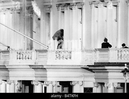 Iranische Botschaft-Belagerung endete mit einem SAS-RAID-wo Sim Harris aus dem Balkon entgangen, wie in den Büros - Stockfoto