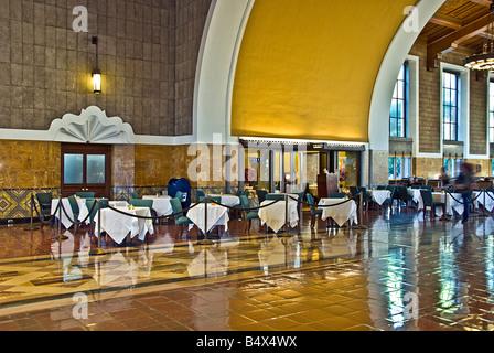 Union Station, Los Angeles, Kalifornien, Usa, Innenstadt, Bahnhof, Eisenbahn, terminal, Depot, architektonische - Stockfoto