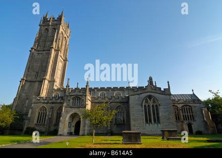 St. Johanniskirche, Website der Ley-Linien und die Legende von König Arthur, Medip, Somerset, England, Großbritannien, - Stockfoto