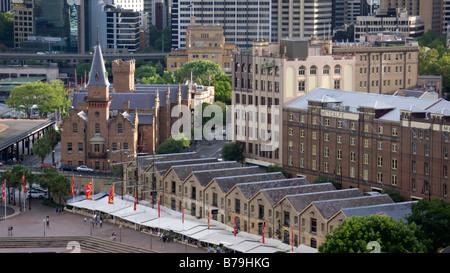 Lagerhäuser von Campbell und Australasian Steam Navigation Co., Sydney, Australien - Stockfoto
