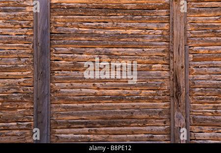 Drop-Log Wandaufbau, Outback Australien - Stockfoto