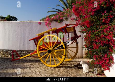 Portugal die Algarve typischen gemalt, Cart und Trauerweiden in Blüte - Stockfoto
