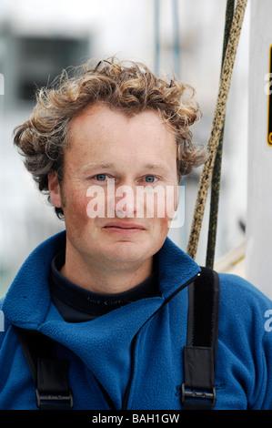 "Steve White, Seemann im Rennen ""Vendée Globe"" - Stockfoto"