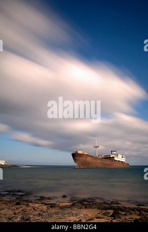 Los Marmoles Schiffbruch auf Lanzarote - Stockfoto