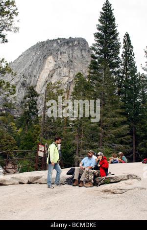 Wanderer im Yosemite National Park - Stockfoto