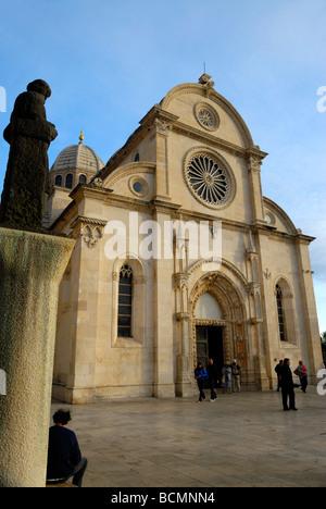 Kathedrale St. Jakobus in Sibenik an der dalmatinischen Küste von Kroatien - Stockfoto