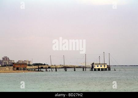 Panorama von der Strand von Lido di Dante-Ravenna-Italien - Stockfoto