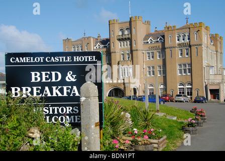 Camelot Castle, King Arthur Hotel, Bed & Breakfast, Tintagel, Cornwall Nordküste, England, UK - Stockfoto