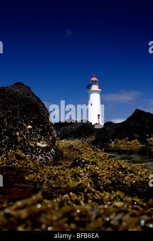 Port Fairy Leuchtturm, Griffith Insel, auf der Great Ocean Road, Australien - Stockfoto